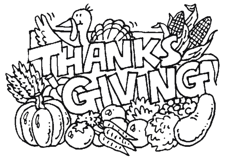 Thanksgiving day coloring page