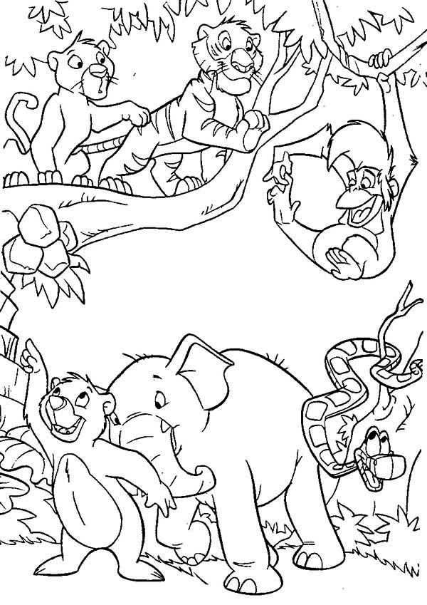The Jungle Book coloring page fork ids