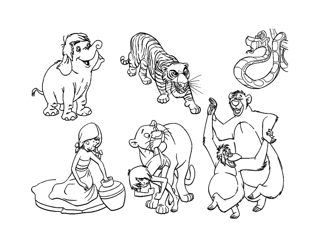 Disney jungle book coloring pages -  827
