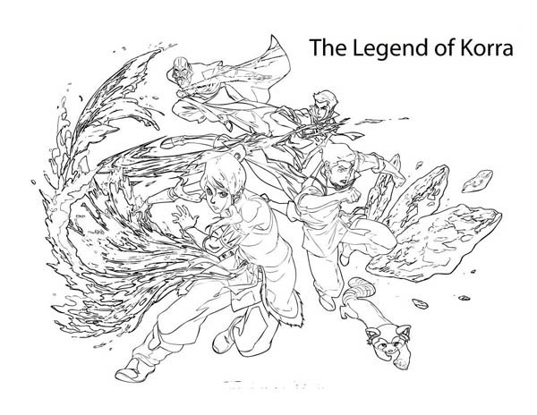 free legend of korra coloring pages | coloring pages of the-legend-of-korra – Free Printables