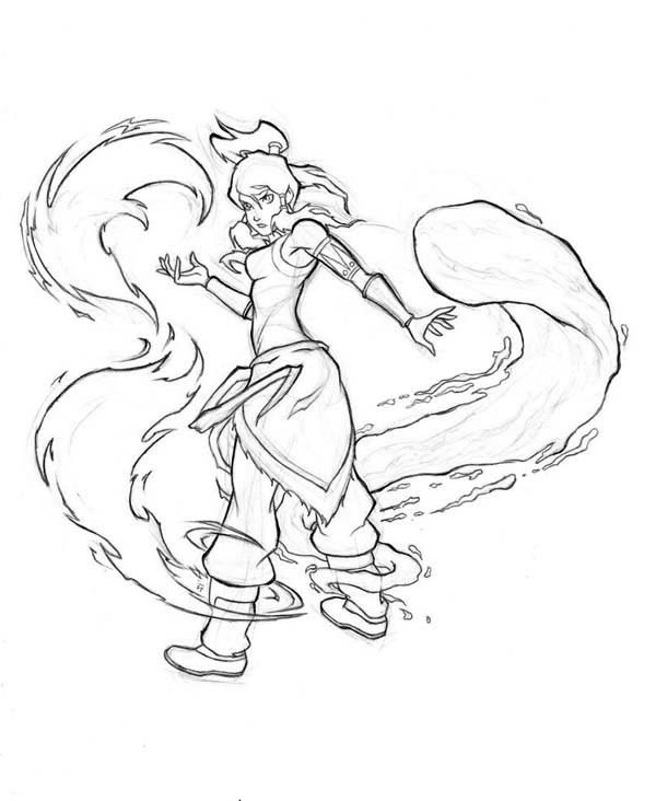 Coloring Pages Of Legend Of Korra Bending Pictures to Pin on ...