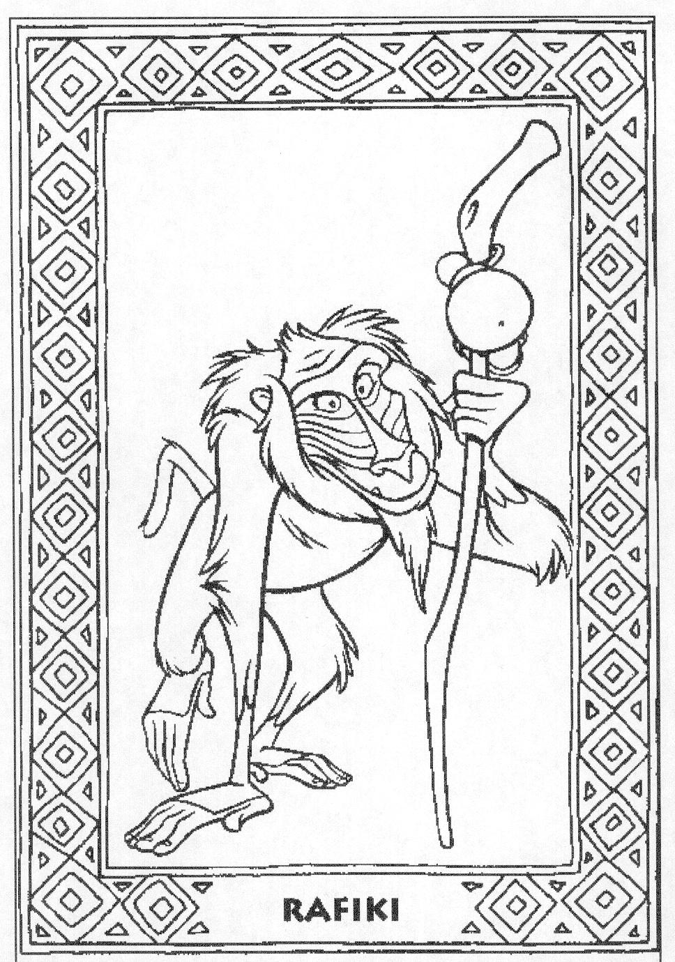 Mysterious Rafiki Coloring Page