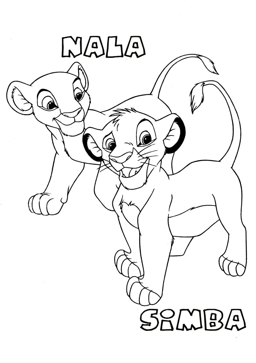 thelionking coloring pages for kids  Free Printables
