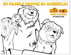 The Nut Job poster coloring page for kids