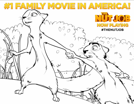 The Nut Job coloring page