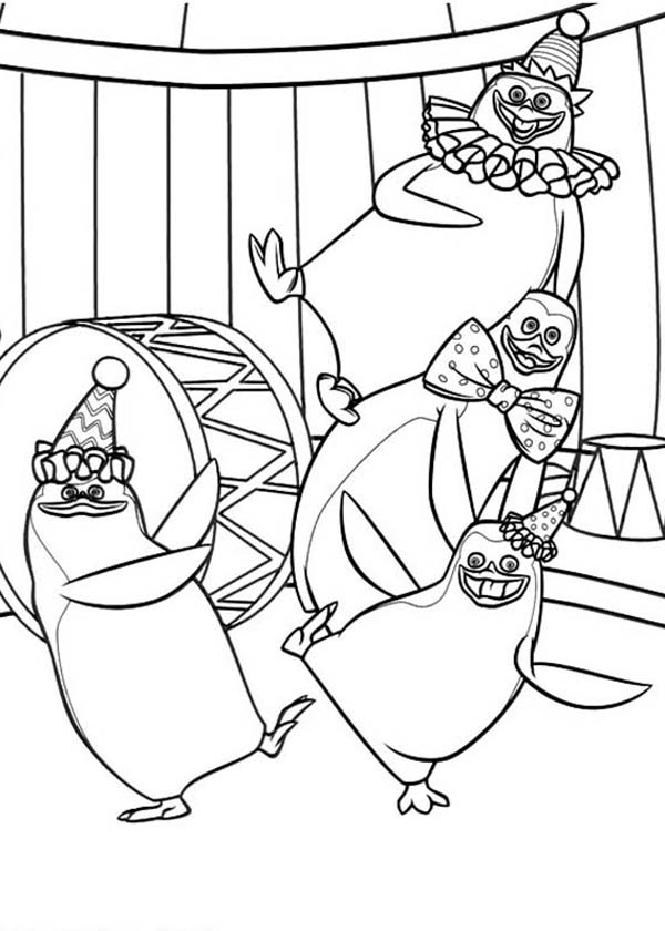 cute penguins coloring page