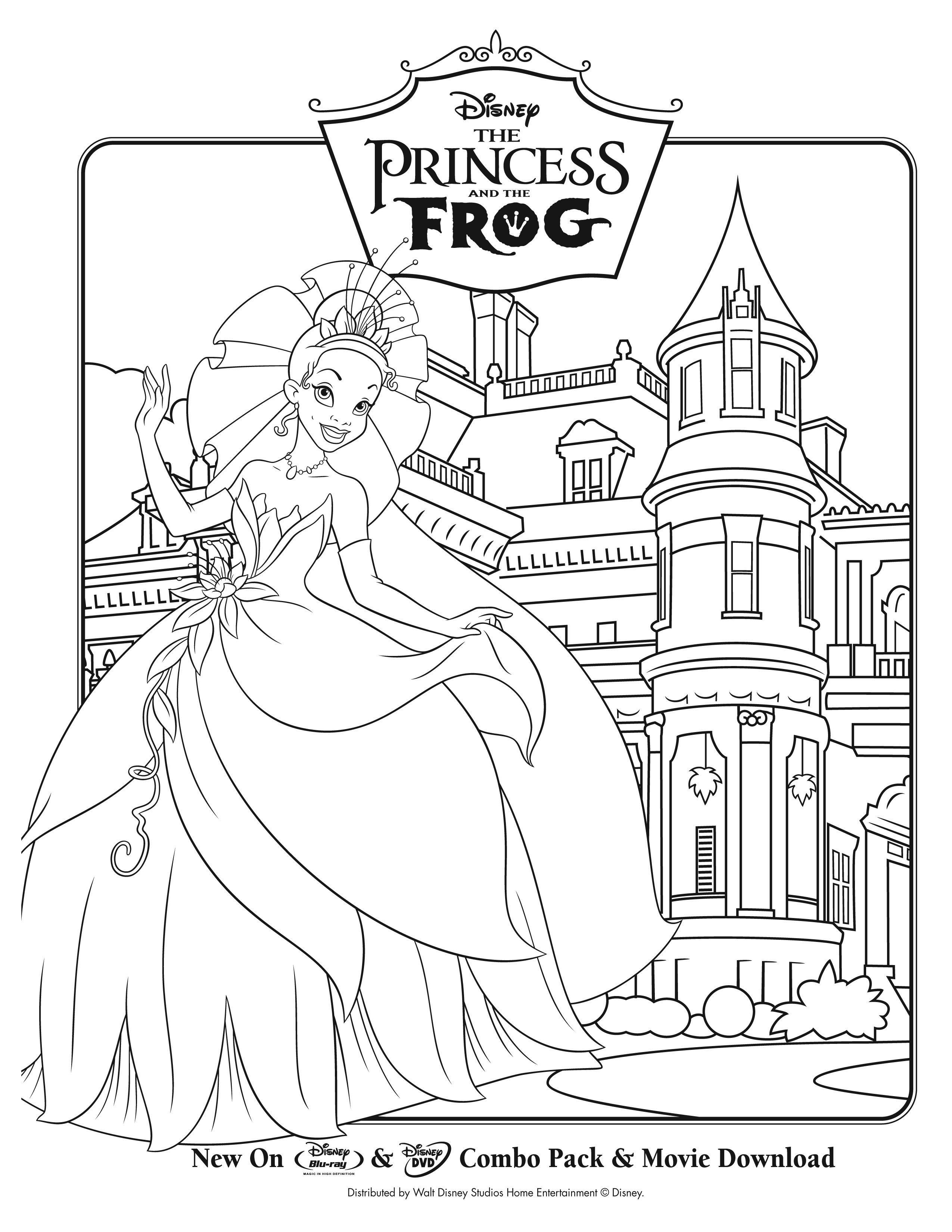 The Princess And The Frog Coloring Pages By Caden Free Printables