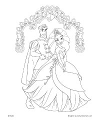 The Princess And The Frog Coloring Pages Copy Charlotte Free