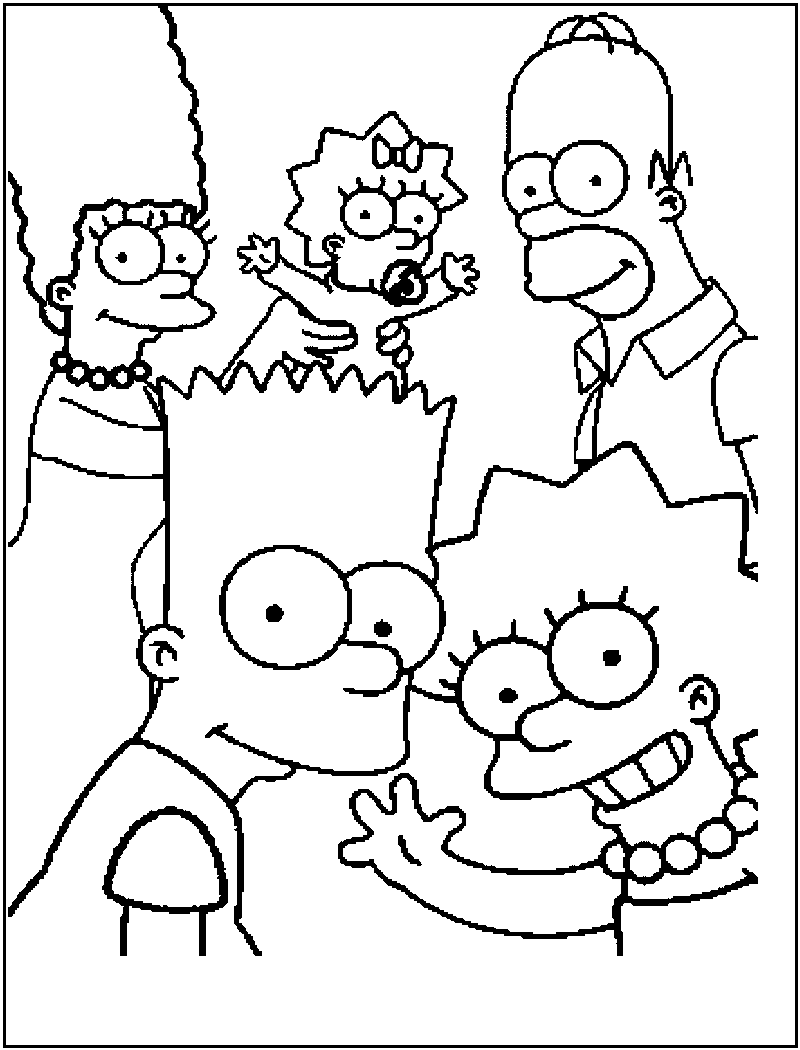 the simpsons coloring pages the simpsons coloring pages from layla – Free Printables the simpsons coloring pages