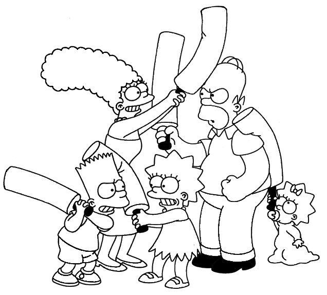 the simpsons coloring book pages - photo#43