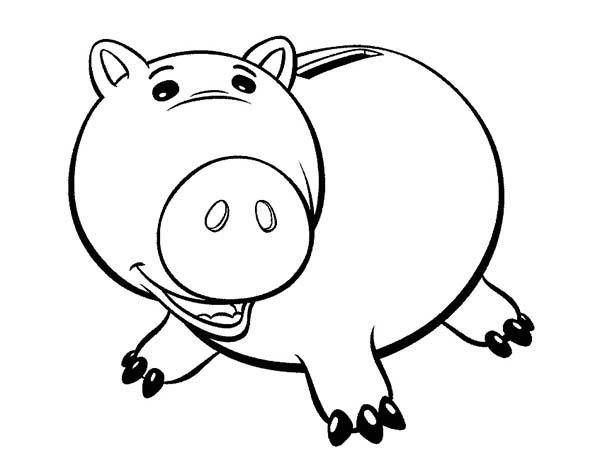 Cute Hamm Piggy Coloring Page