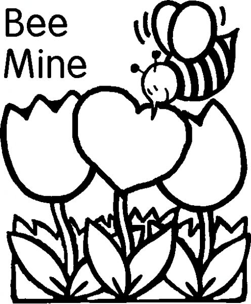 Free Printable Valentine's Day Coloring Page - Get Coloring Pages | 600x496