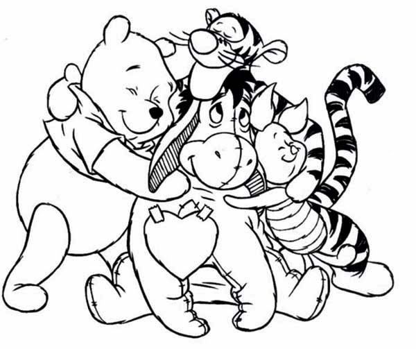 winnie the pooh with honey coloring pages - winnie the pooh coloring pages from dylan free printables