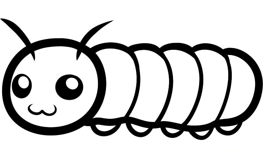 - Caterpillar Coloring Pages By Emily – Free Printables