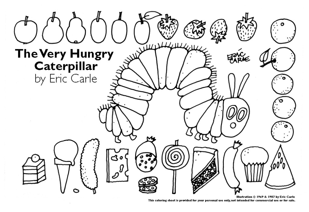 caterpillar loves these food items