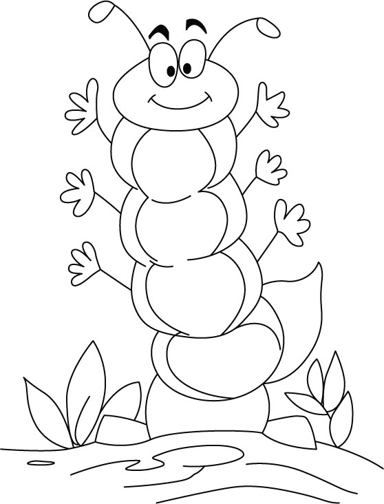 cute caterpillar coloring page for kids