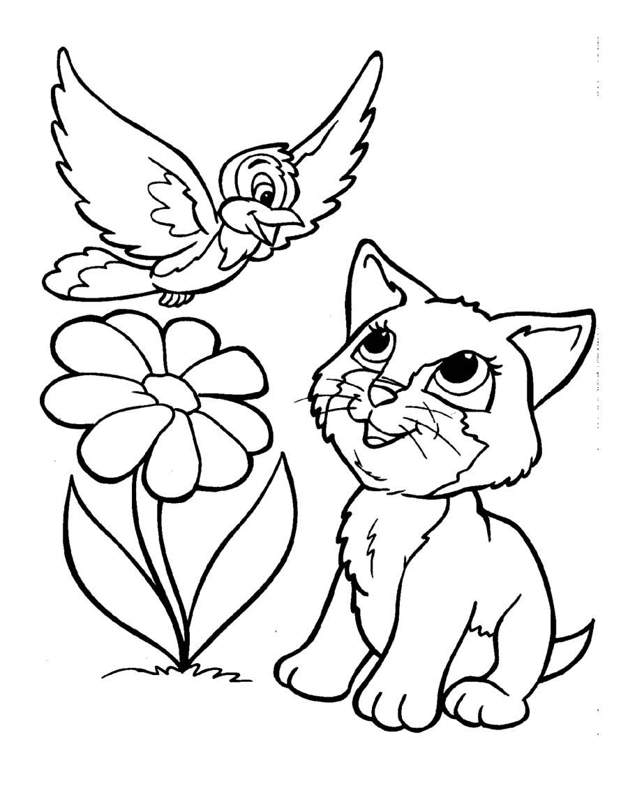 Coloring Pages Kitties Coloring Pages kitties coloring pages eassume com puppy and kitty free kids pages