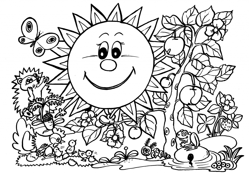 beautiful nature coloring page