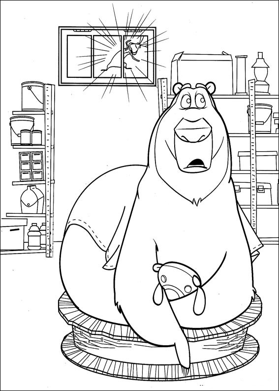 confused Boog coloring page