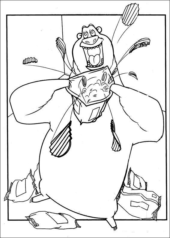 Open Season coloring page for kids