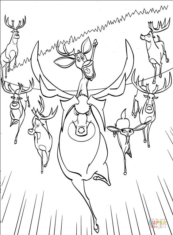 animals are in real hurry coloring page