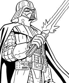 Prinable star wars coloring pages