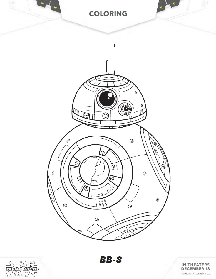 Star wars images for coloring