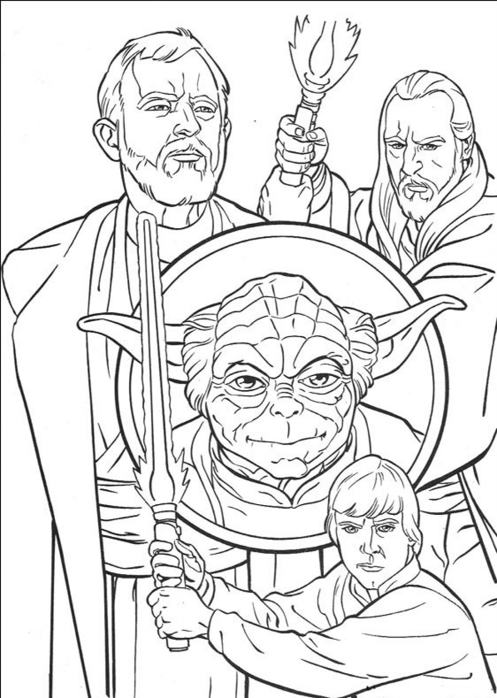 All heroes Star wars coloring pages