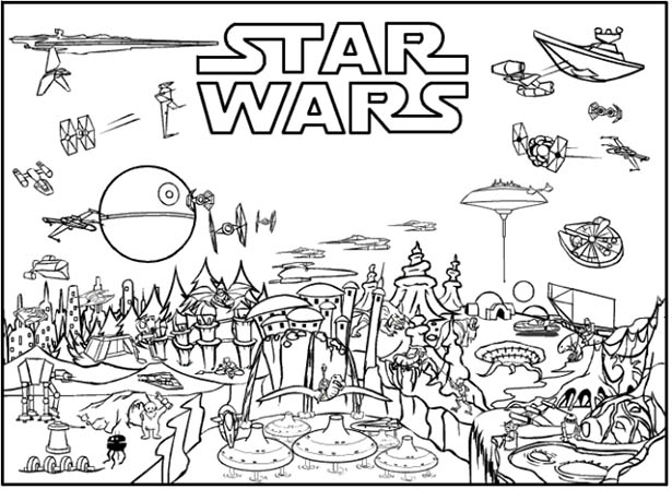 Whole Star wars printable picture