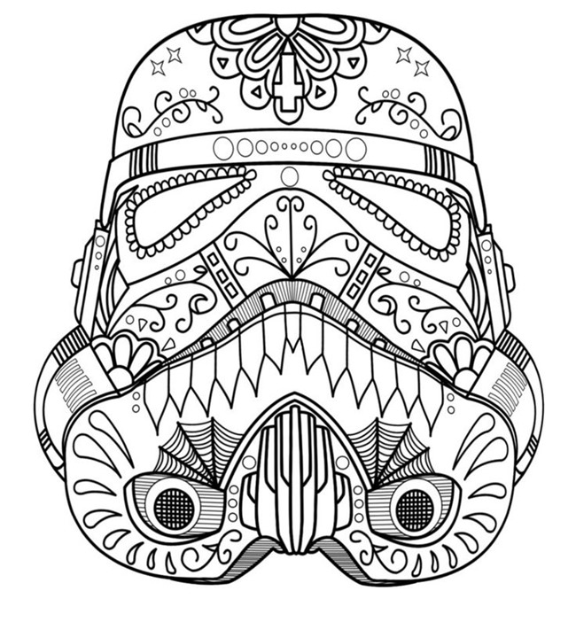Mandala star wars adult coloring pages