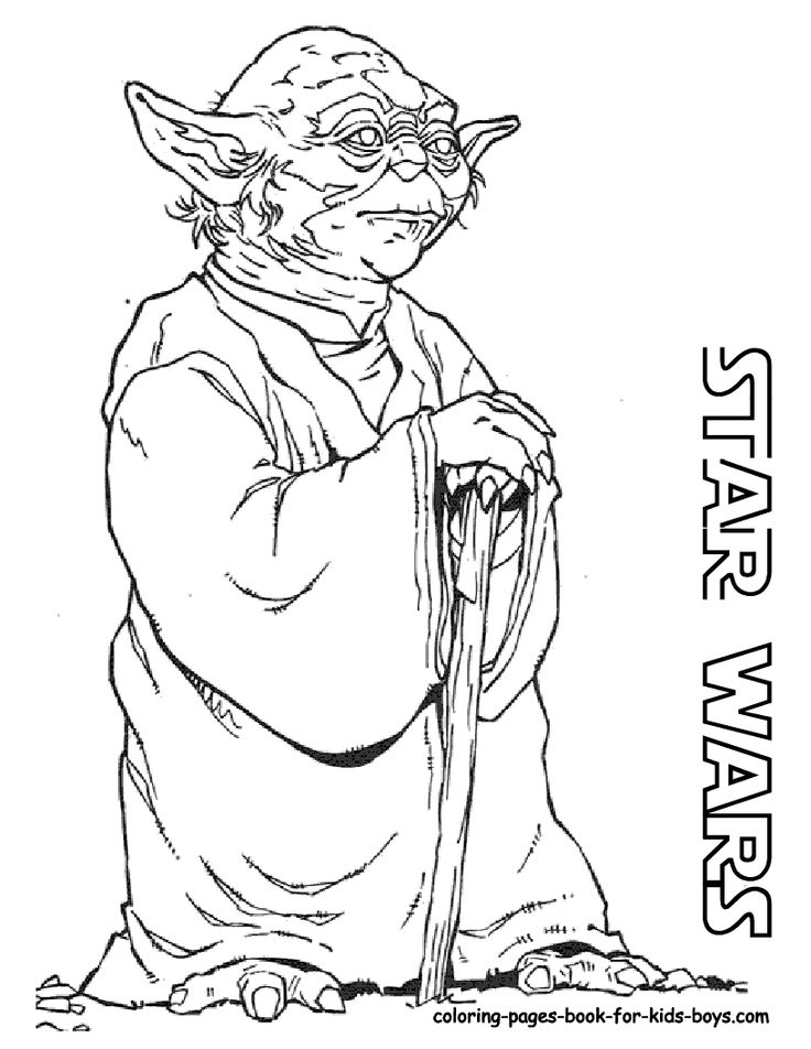 Master Yoda Star wars coloring pages