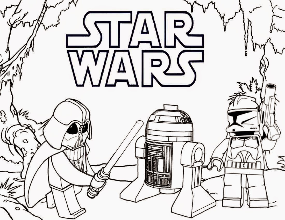 Darth Vader And R2d2 Star Wars Coloring Pages
