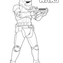 Clone Tropper Star Wars Coloring Page
