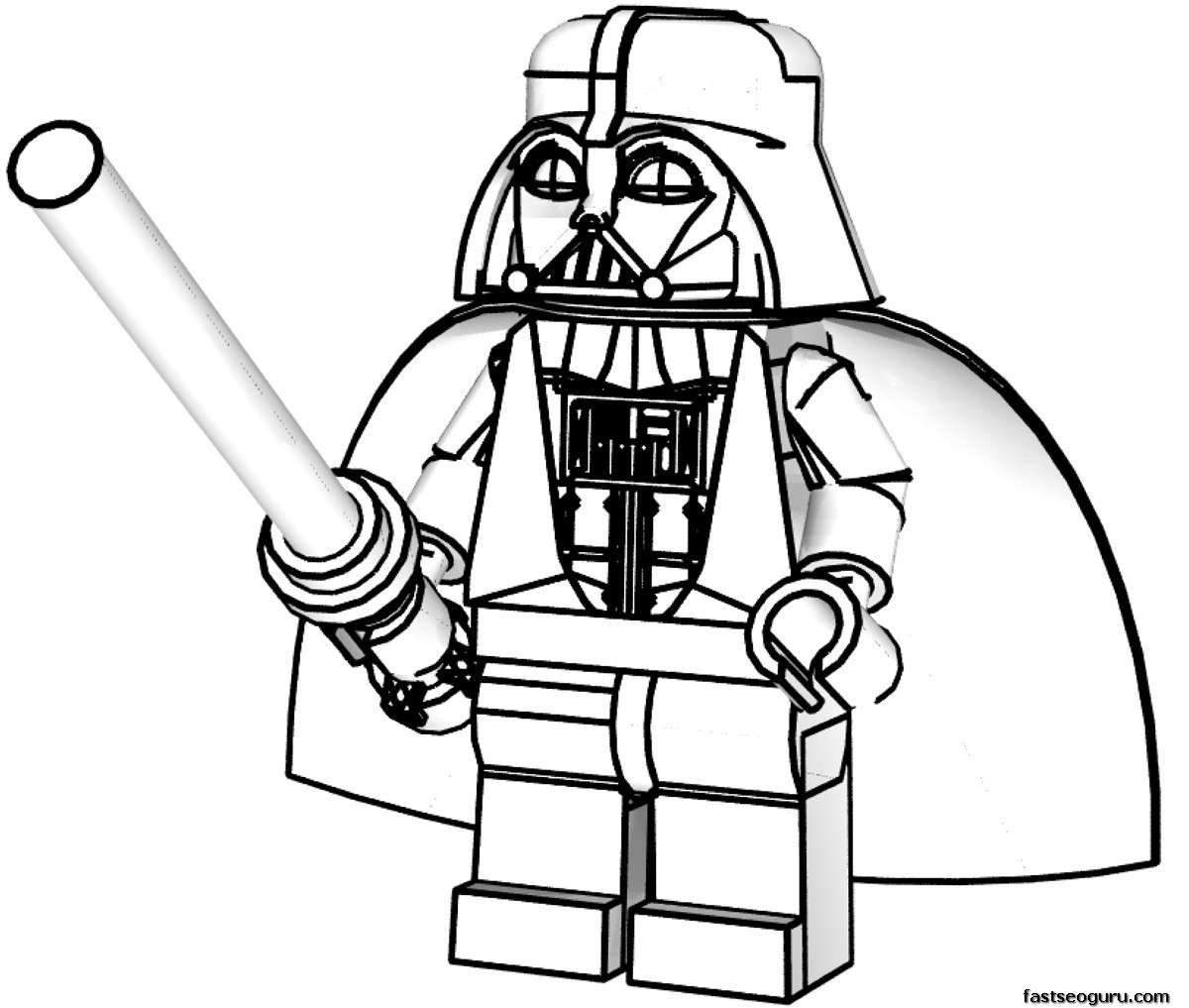 Star wars lego darth vader coloring page