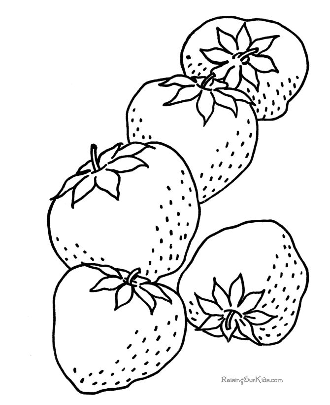 Printable Page Of Strawberry By Henry Free Printables