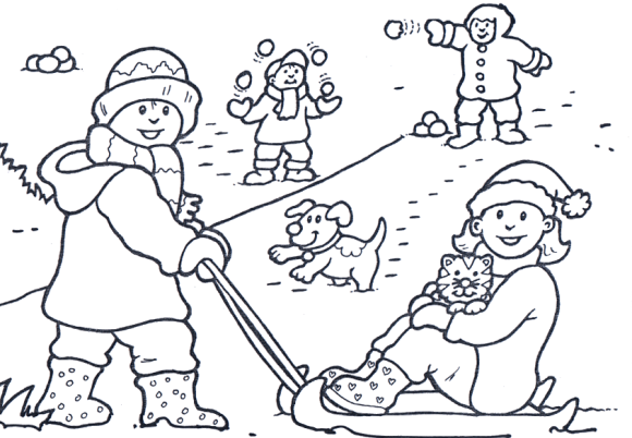 ice sledging in the winter season