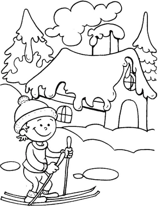 Spectacular View Of Frizzy Winter Season 18 Winter Season Coloring Pages Winter Season